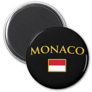 Golden Monaco 2 Inch Round Magnet