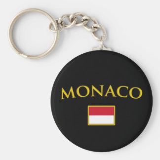 Golden Monaco Basic Round Button Keychain