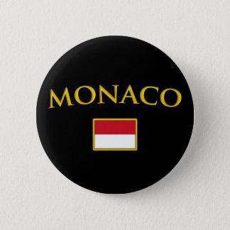Golden Monaco Pinback Button