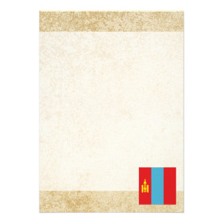 Golden Mongolia Flag Card