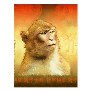 Golden Monkey Chinese Year of the Monkey Postcard