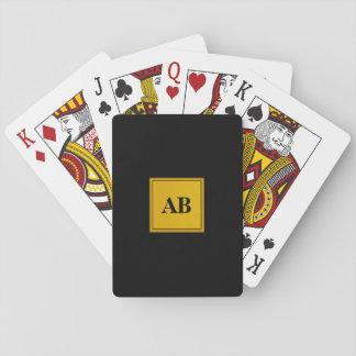 Golden monogram design poker deck