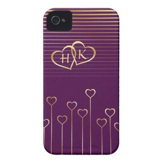 Golden Monogram Hearts Valentine casematecase