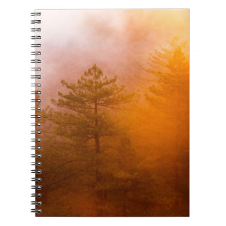 Golden Morning Glory Forest Notebook