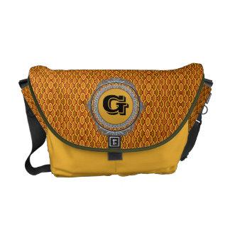 Golden Mossy Seashells Monogram Designer Bag