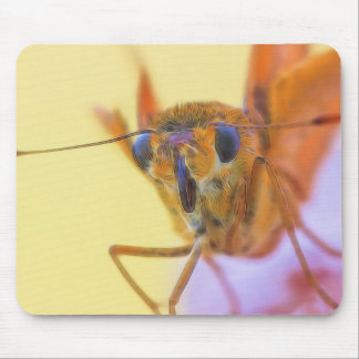 Golden Moth Mouse Pad