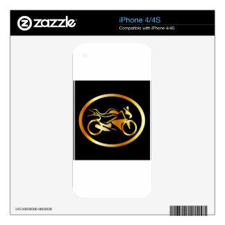 Golden motorbike skin for iPhone 4S