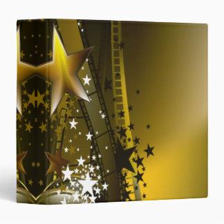 Golden Movie Reels And A Gazillion Stars Binder
