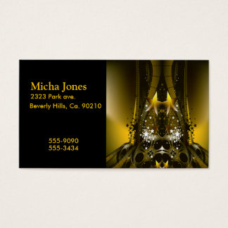 Golden Movie Reels And A Gazillion Stars Business Card