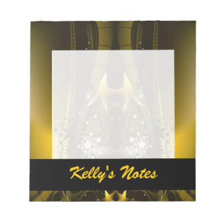 Golden Movie Reels And A Gazillion Stars Notepad