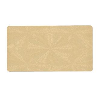Golden Mud Light Floral Waves: Sparkle Artistic Label