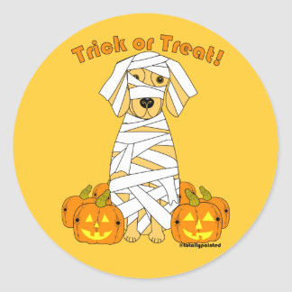 Golden Mummy Classic Round Sticker