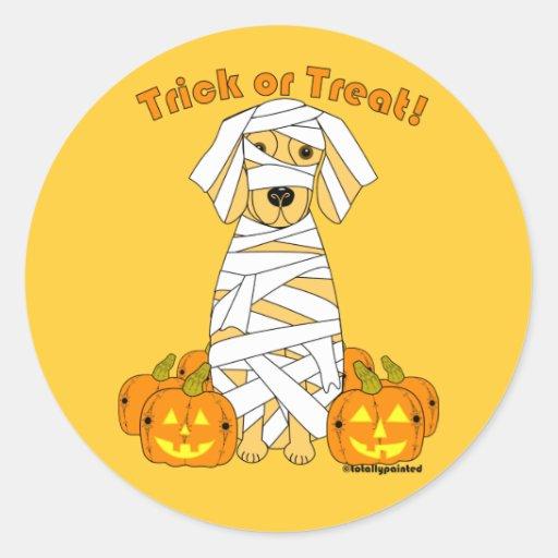 Golden Mummy Stickers
