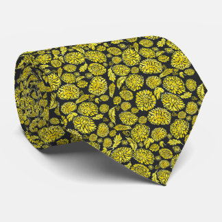 Golden Delicious mums Chinese style Neck Tie