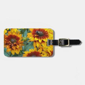 Golden Mums Floral Travel Bag Tags