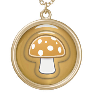 Golden Mushroom Gold Plated Necklace