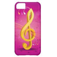 Golden Music iPhone 5C Case