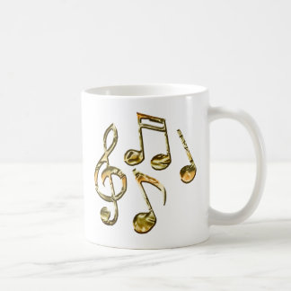 Golden Music Notation Music-Lover Collection Classic White Coffee Mug