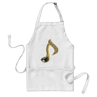 Golden Musical Note Adult Apron