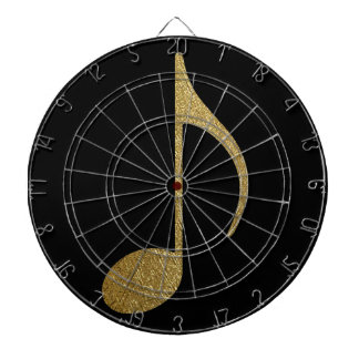 golden musical note dartboard