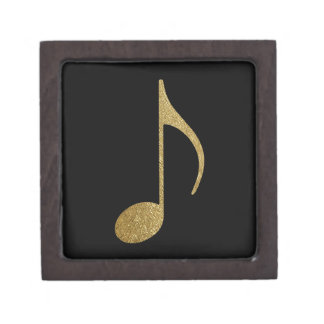 golden musical note jewelry box