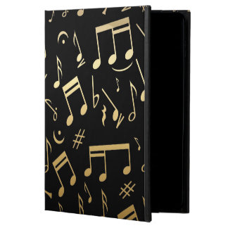 Golden Musical Notes on Black Background Powis iPad Air 2 Case