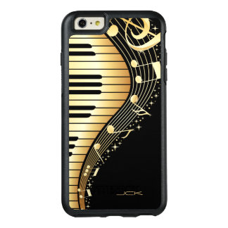 Golden Musical Notes OtterBox iPhone 6/6s Plus Case