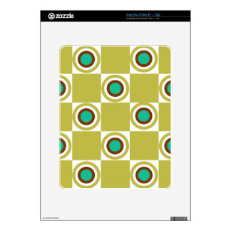 Golden Mustard Diner Dots Decal For The iPad