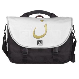 Golden N for Nazarine - On White Commuter Bags