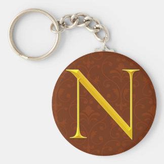 Golden N Monogram Key Chains