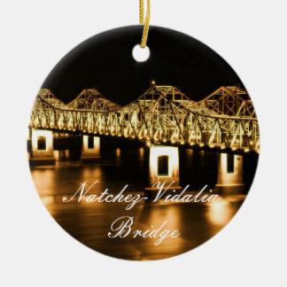 Golden Natchez-Vidalia Bridge Christmas Ornament