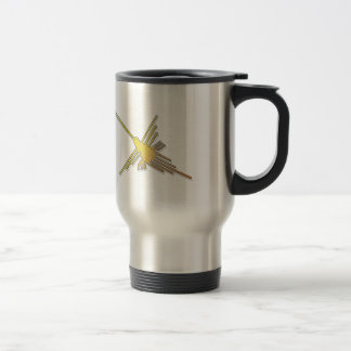 Golden Nazca Lines Hummingbird Travel Mug