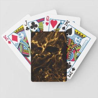 GOLDEN NEBULA DIGITAL ART RANDOM ABSTRACT SPACE BA BICYCLE CARD DECKS