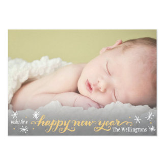 Golden New Year Greeting Card