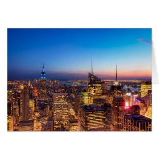 Golden New York City Skyline Card
