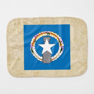 Golden Northern Mariana Islands Flag Baby Burp Cloth