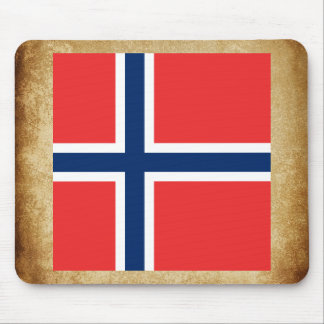 Golden Norway Flag Mouse Pad