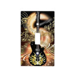 Golden Notes Guitar Shot Music Lightswitch Cover Light Switch Plate