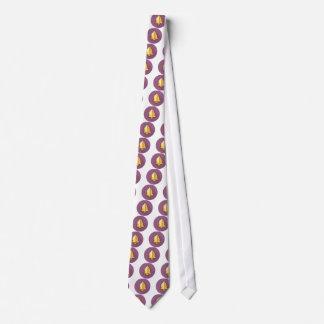 Golden Notification Bell Icon Neck Tie