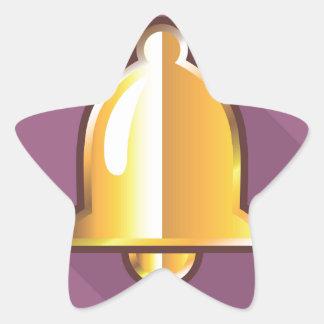 Golden Notification Bell Icon Star Sticker
