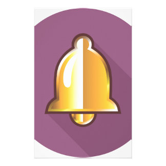 Golden Notification Bell Icon Stationery