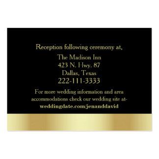Golden Nouveau Fleur Wedding Enclosure Card Large Business Cards (Pack Of 100)