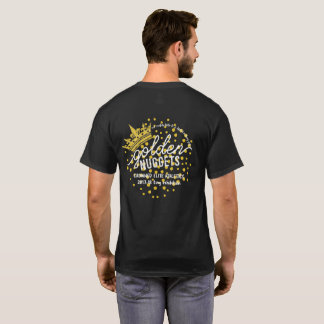 GOLDEN NUGGETS: Official Logo on Black T-Shirt