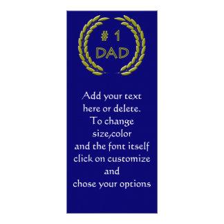 Golden Number 1 Dad Bookmark Template Rack Cards