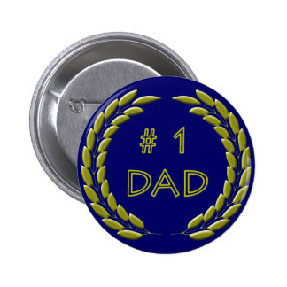 Golden Number 1 Dad Button