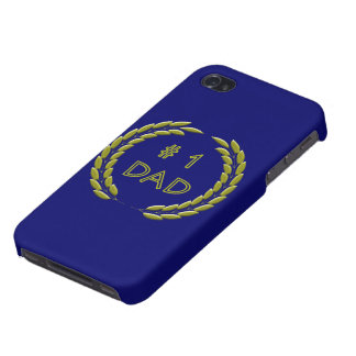 Golden Number 1 Dad Cases For iPhone 4