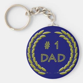 Golden Number 1 Dad Keychain
