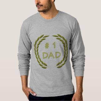 Golden Number 1 Dad Long Sleeve -Shirt T-shirt