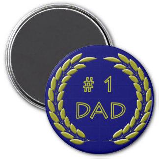 Golden Number 1 Dad Magnet