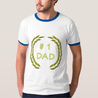 Golden Number 1 Dad Ringer T-Shirt